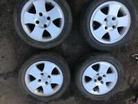 Alloy Wheels Ford 4x108 will fit ford Peugeot Citroen 4 stud 14inch good condition