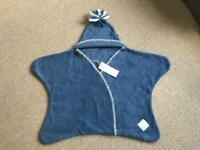 Unused Tuppence and Crumble Star Baby Wrap Denim Size Small