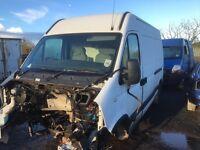 Renault master van parts 2.5 diesel 2005 year doors wheels wings lights bumper bonnet