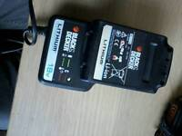 Black&decker battery and charger