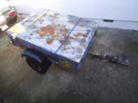4x3 Galvanised Trailer - Car trailer - Has LOCKING TOP