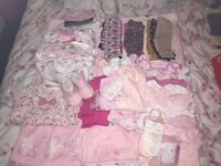 Tiny baby upto 1month girls clothes