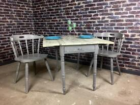 French Chic extendable dining table and two chairs - can deliver