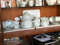 complete set of white blossom tea service in great condition