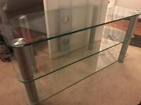 Glass TV stand great condition.