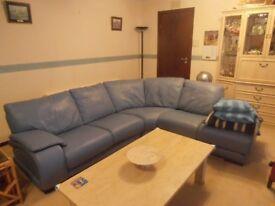Blue corner sofa