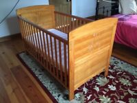 Obaby Pine Cot bed - Excellent Condition
