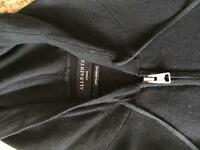 All saints black zipped hoodie