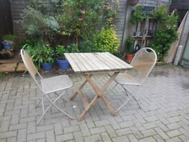 Metal Chairs & wood Table - DELIVERY AVAILABLE