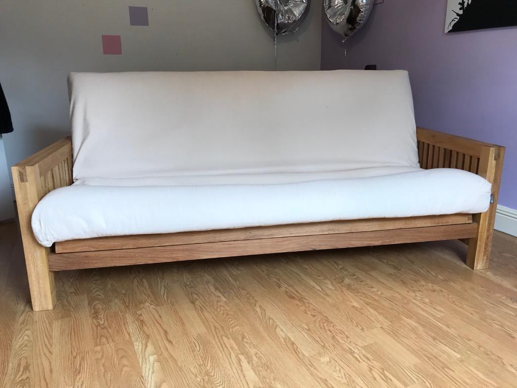 Futon Company OKE Sofa Bed - 3 Seater - OAK Frame