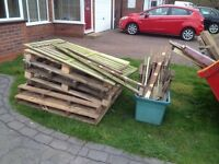 Wood for fires etc