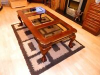 Antique carved table .