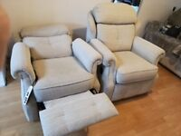 G Plan 3 piece Reclining suite with Rise and Tilt chair Stow In Mist Colour