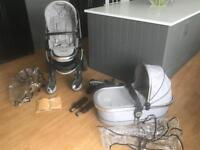 Icandy peach 2 pram and carry cot