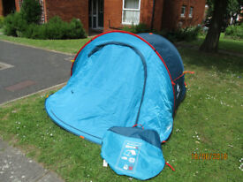 Quechua 2 person tent in 2 tone blue