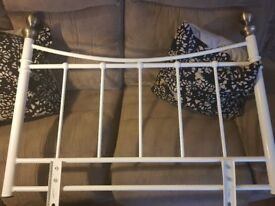 Metal Headboard for sale in cream