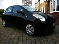2006 (56) TOYOTA YARIS 1.0 VVT-I T3 5DR, IN BLACK, FULL HISTORY, LOW MILES, 2 FAMILY OWNERS FROM NEW