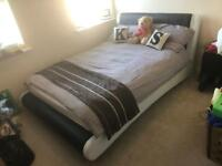 New Leather Double Bed Frame (excludes mattress)