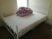 Complete double bed with mattress