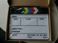 High quality acrylic clapperboard/Slate. Offers accepted