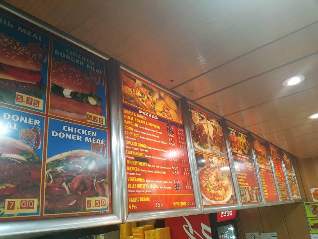 Takeway menu