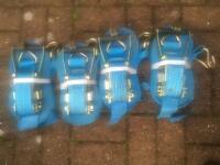 4x Brand New Ratchet Straps For Sale