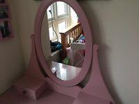 IKEA Dressing Table, Pink, HEMNES