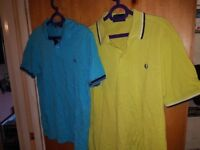4 Fred Perry Polo Tee Shirts