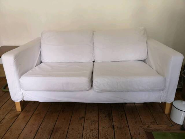 Wondrous Ikea Karlstad 2 Seater Sofa In White In York North Gmtry Best Dining Table And Chair Ideas Images Gmtryco