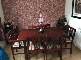 Slashed price - Mohogney Dining Room Table & Chairs