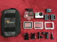 GoPro HERO4 / Hero 4 Silver Edition Action Camcorder & Lowepro VeiwPoint CS 40 Case