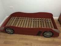 Kids car bed with out mattress.Very good condition. I'm Selling because buying double bed for my son