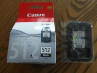 Genuine New sealed Canon 511 & 512 Ink Cartridges