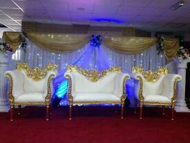 Wedding, Mehndi Stages & Chair covers For Hire