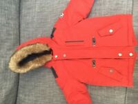 Boys Red Winter Coat Age 1 1/2 -2 years