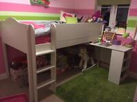 NEXT mid sleeper white single bed.