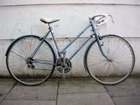 Ladies Vintage Road Bike by Raleigh w/Upgrades, Blue, Rides/ Stops Fast, JUST SERVICED/ CHEAP PRICE!