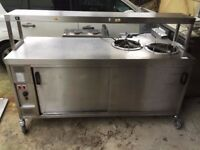 HOT FOOD WARMER HEATED LIGHTS PLATE WARMER CATERING COMMERCIAL BBQ KEBAB CHICKEN FAST FOOD SHOP