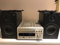Denon Mini Hi Fi System. CD Player DAB Radio MP3 Sound System with Speakers