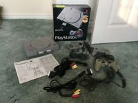 Sony Playstation 1 SCPH-1002B – Boxed with Cables, Controllers, Instructions – NO Games Collect Only