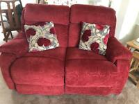 DFS sofa and two chairs (all recliner)