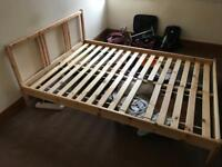 FREE TO COLLECT - Wood bed frame