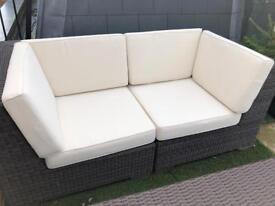 Indian Ocean x2 outdoor corner sofa rattan / rehea weave