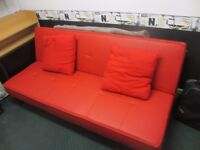 Red double sofa bed very good condition