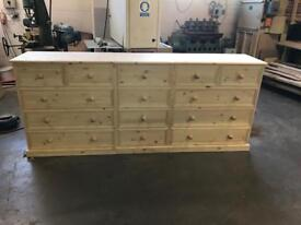 Hand made solid pine chest of drawers with Dove tail joints