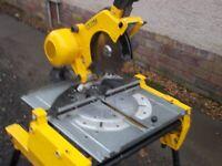 DeWalt DW743 Flipover Combination Saw Mitre + Table 110v + Accessory