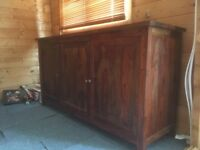 Two matching mahogany side boards