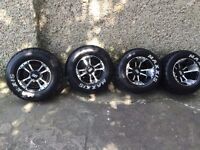 YAMAHA RAPTOR 700 SS ALLOYS WITH TYRES MAXXIS ROAD TYRES COMPLETE YFZ 450 660 350