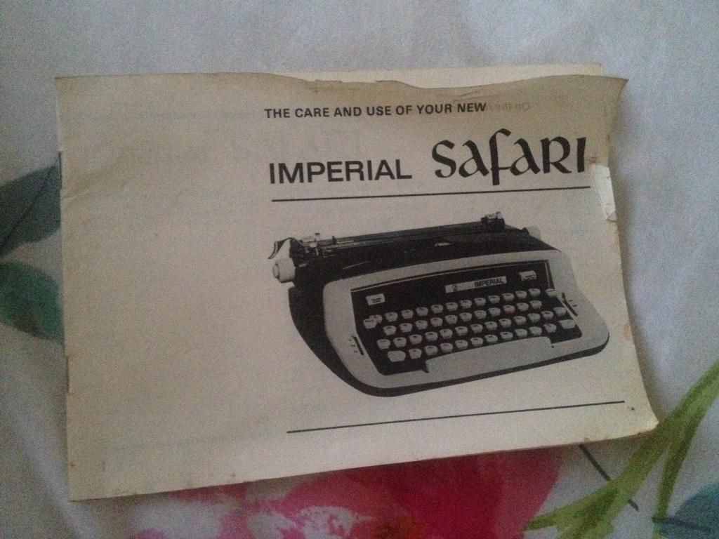 Imperial safari type writher