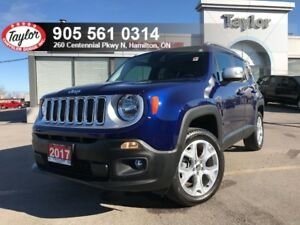 2017 Jeep Renegade Limited 4x4 w/Leather, Navi, Sunroof, Tow Pac